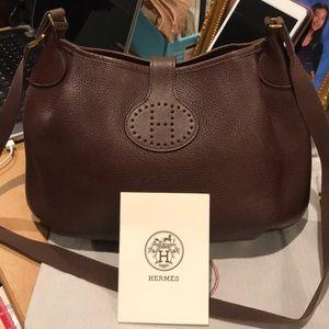 Authentic Leather Vintage Evelyne Hermes Crossbody